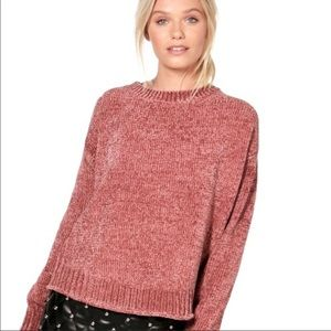 Orvis Blush Pink Chenille Sweater